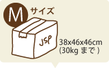 Mサイズボックス 38x46x46cm (30kgまで)